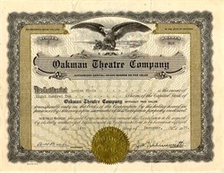 Oakman Theatre Company - Detroit, Michigan 1935