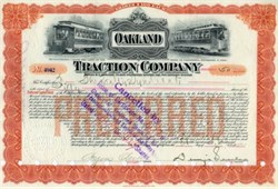Oakland Traction Company - California 1912 signed by Dennis Searles ( Borax Mining Company Co Founder )