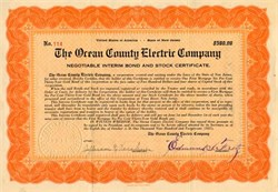 Ocean County Electric Company - New Jersey 1921