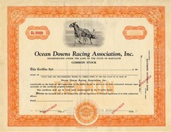 Ocean Downs Racing Association, Inc. - Maryland 1947