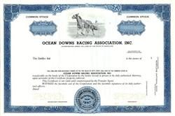 Ocean Downs Racing Association, Inc. - Berlin, Maryland 1968