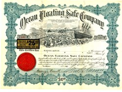 Ocean Floating Safe Company (Entered market after sinking of Lusitania during WWI)  - 1920
