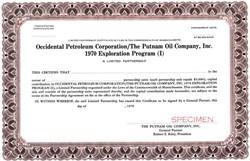 Occidental Petroleum Corporation / The Putnam Oil Company, Inc. 1970 Exploration Program (I) - Massachusetts