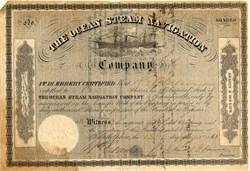 Ocean Steam Navigation Company - Issued during Civil War - Philadelphia, Pennsylvania 1861