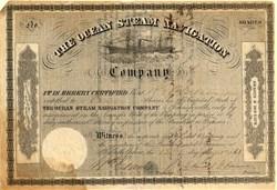 Ocean Steam Navigation Company - Issued during Civil War - Philadelphia, Pennsylvania 1861