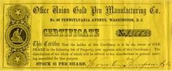 Office Union Gold Pen Manufacturing Company - Washington, DC Est. 1860's