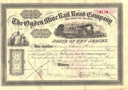 Ogden Mine Rail Road Company - New Jersey 1895