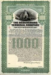Ogdensburg Terminal Company Gold Bond - New York 1911