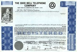 Ohio Bell Telephone Company (Specimen Bond)  - 1970