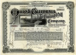Ohio & California Refining Oil Company -1903