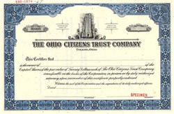 Ohio Citizens Trust Company (Became National City Bank Corporation) - Toledo, Ohio