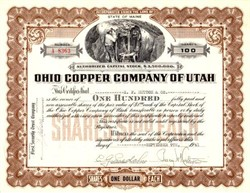 Ohio Copper Company of Utah - Bingham Mining District, Utah - 1941