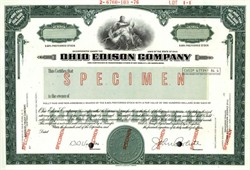 Ohio Edison Company ( Now FirstEnergy Corp. ) Specimen - Ohio 1976