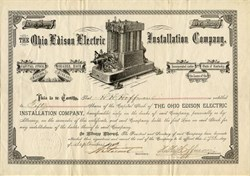 Ohio Edison Electric Installation Company - Incorporated in Kentucky 1883