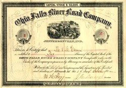 Ohio Falls River Road Company - Jeffersonville, Indiana 1882