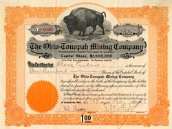 Ohio -Tonopah Mining Company - Buffalo Vignette - Tonopah, Nevada 1907