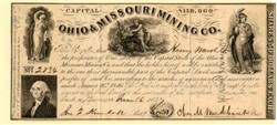Ohio & Missouri Mining Company 1847 - Cincinnati, Ohio