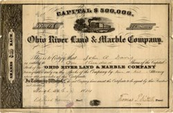 Ohio River Land and Marble Company - 1854
