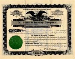 Oil Lease & Royalty Company - Arizona 1936