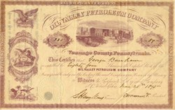 Oil Valley Petroleum Company - Venango County, Pennsylvania 1875