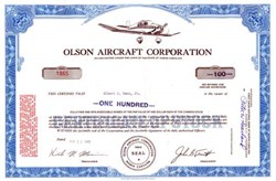 Olson Aircraft Corporation 1965 - Wilmington, North Carolina