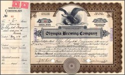 Olympia Brewing Company 1933 - Issued when prohibition was repealed - Washington