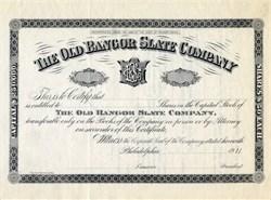 Old Bangor Slate Company - Pennsylvania 1911