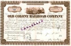 Old Colony Railroad Company 1870's