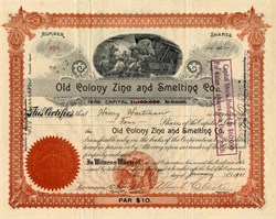Old Colony Zinc and Smelting Company - West Virginia 1900