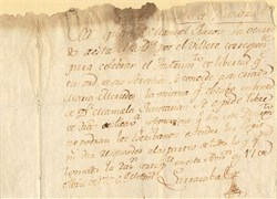 Spanish Slave Emancipation Document  - 1796