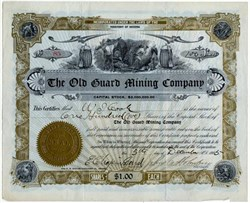 Old Guard Mining Company - Territory of  Arizona 1905