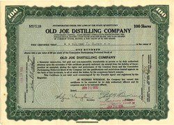 Old Joe Distilling Company - Lawrenceburg, Kentucky -1935