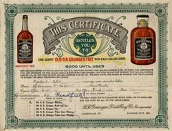 Old R.B. Grainger  Whiskey - Louisville, Kentucky 1906