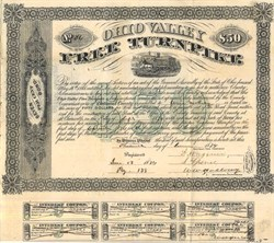 Ohio Valley Free Turnpike  - Belmont County, Ohio 1874