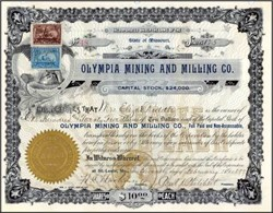 Olympia Mining and Milling Co. 1899 - St. Louis, Missouri