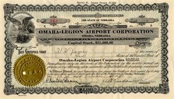 Omaha-Legion Airport Corporation - Nebraska 1927