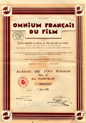 Omnium Francais Du Film - Early French Film Company - Art Deco - 1928