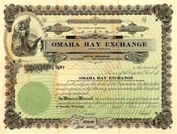 Omaha Hay Exchange - Nebraska 1916