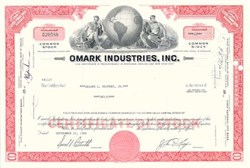 Omark Industries - Blount International Stock Certificate