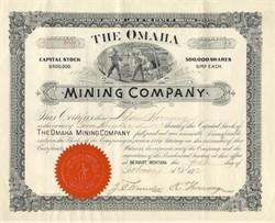 Omaha Mining Company - Neihart, Montana 1892