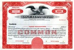 Oneida,  Limited  (Formerly Oneida Community Limited) - RARE Specimen - New York 1949