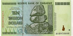 Ten Trillion Dollars Banknote (Really) from the Reserve Bank of Zimbabwe (Uncirculated) - Zimbabwe 2008