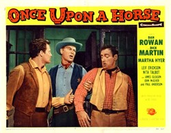 Once Upon a Horse Lobby Card Starring Dan Rowan and Dick Martin - 1958