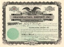 Orange - Athol Airport, Inc. ( Now Orange Municipal Airport ) - Massachusetts 1929