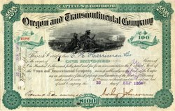 Oregon and Transcontinental Company 1885 - E. H. Harriman