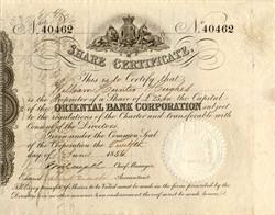 Oriental Bank Corporation - England, 1865