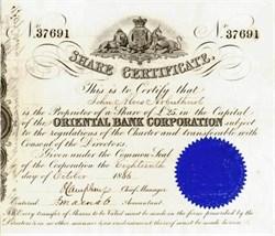 Oriental Bank Corporation - 1853