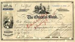 Oriental Bank  - New York 1906