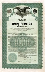 Ortley Beach Company signed by Charles Durborow (Ground Zero from Hurricane Sandy) - Toms River, Dover Township, Ocean County, New Jersey 1928