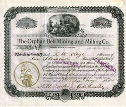 Orphan Bell Mining and Milling Co. -Colorado. Teller. Cripple Creek. - 1893
